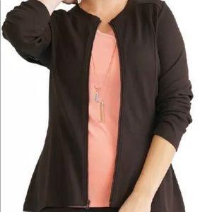 Ruby Ribbon Ponte Zip Jacket M